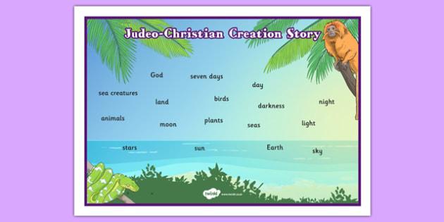 Judeo Christian Creation Story Word Mat