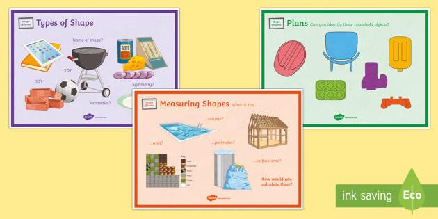 Shape@Home A4 Display Poster - Maths@Home, shape, area, volume, perimeter