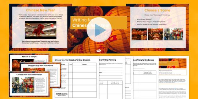 Chinese New Year Writing Prompts Pack - Chinese New Year, Creative Writing, Prompts, Reading Comprehension, KS 3, KS2 writing, celebrations, fireworks