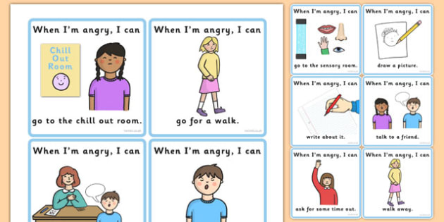 Angry Choice Cards - Angry, Upset, Mad, Emotions, Choice, Cards