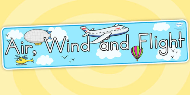 Air Wind and Flight Display Banner - air, wind, flight, banner