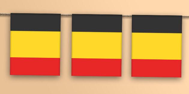 Belgium Flag Bunting - belgium flag, belgium, flag, bunting, display bunting, display