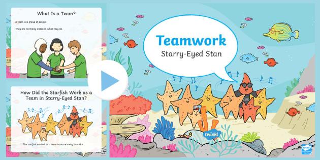 new starry eyed stan teamwork powerpoint twinkl originals