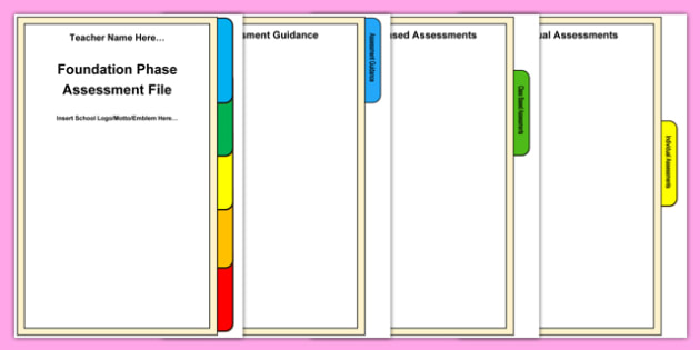 Foundation Phase Assessment File Front Cover and Tab Pack-Welsh