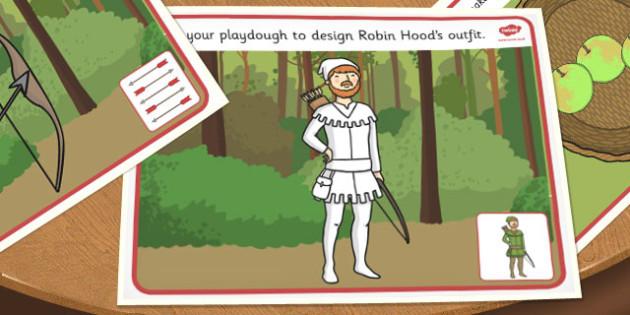 Robin Hood Playdough Mats - robin hood, playdough, mat, robin
