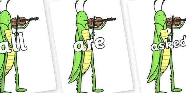 Tricky Words on Grasshopper - Tricky words, DfES Letters and Sounds, Letters and sounds, display, words
