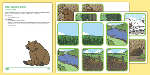Bear Hunting Game Busy Bag Resource Pack for Parents