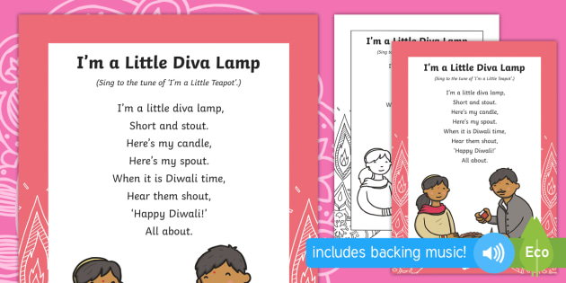 Diwali I'm a Little Diva Lamp Song Lyrics