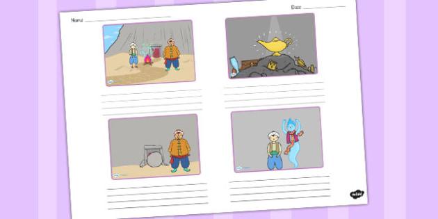 Aladdin Storyboard Template - storyboard, aladdin, template