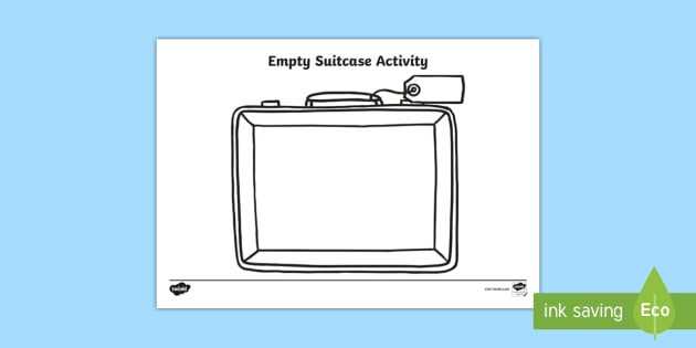 Empty Suitcase Worksheet Teaching Resources Teacher Made