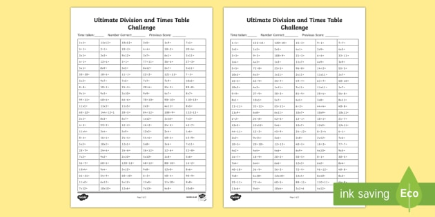 Ultimate Division and Times Table Challenge - ultimate, ks2, division, times tables, times table, challenge