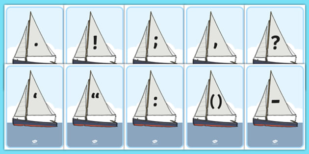 Punctuation on Boats - punctuation, boats, sailing, sail, display