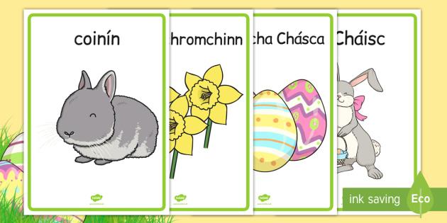 Easter Display Posters Gaeilge - gaeilge, irish, easter, display posters, easter display