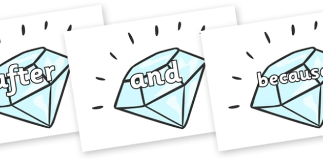 Connectives on Diamonds - Connectives, VCOP, connective resources, connectives display words, connective displays