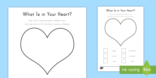 Color Your Feelings Activity Sheet - Grieving Through Tragedy, emotions, feelings, expression, worksheet, work sheet