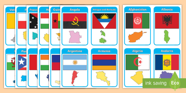 County flags of England flashcards