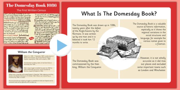 Domesday Book Presentation - domesday book, presentation, domesday, book