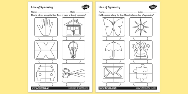 Line Of Symmetry Worksheet Mirror Symmetry Activity