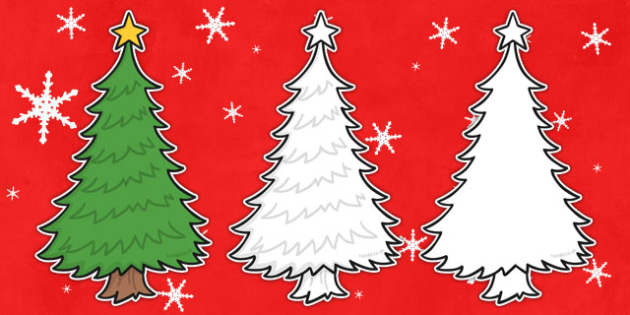 Christmas Tree Shape Cut Out And Decorate