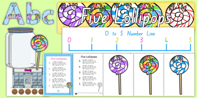 Five Lollipops Display Pack - nz, new zealand, five lollipops, display pack