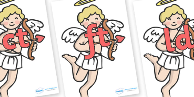 Final Letter Blends on Cherubs - Final Letters, final letter, letter blend, letter blends, consonant, consonants, digraph, trigraph, literacy, alphabet, letters, foundation stage literacy