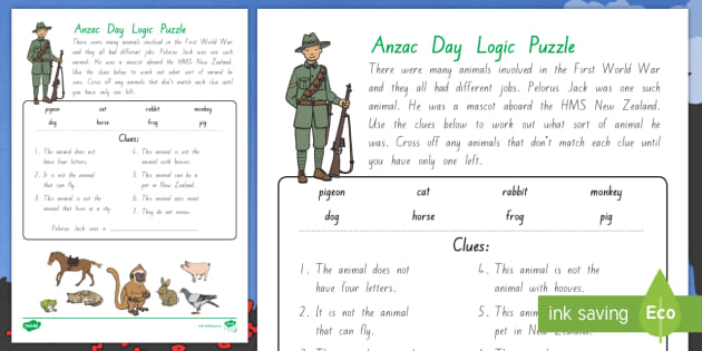 Anzac Day Logic Puzzle