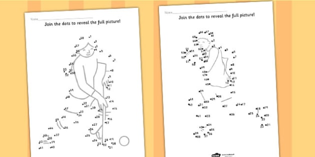 The Commonwealth Games Dot to Dots - sport, pe, motor skills