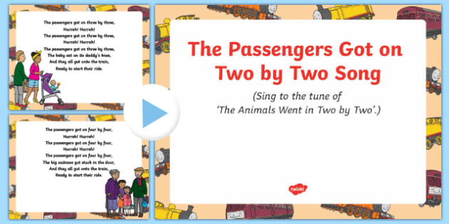 The Passengers Got on Two by Two Song PowerPoint
