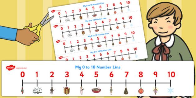 The Nutcracker Number Lines 0-10 - nutcracker, number line, 0-10