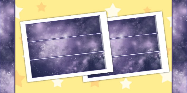 Space Themed Display Borders - Border, Displays, Posters, Visuals