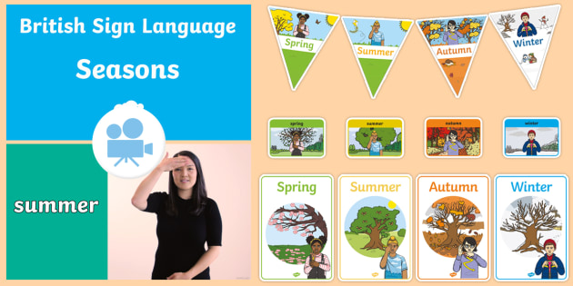 Seasons in British Sign Language (BSL) Video Pack - spring