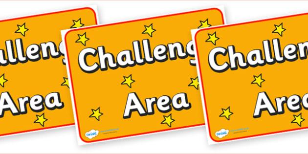 Challenge Area Display Poster - challenge area, display poster, display, poster