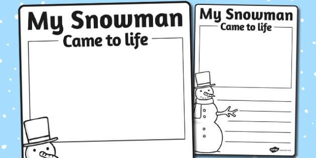 If My Snowman Came to Life Writing Frame - writing frame, snowman