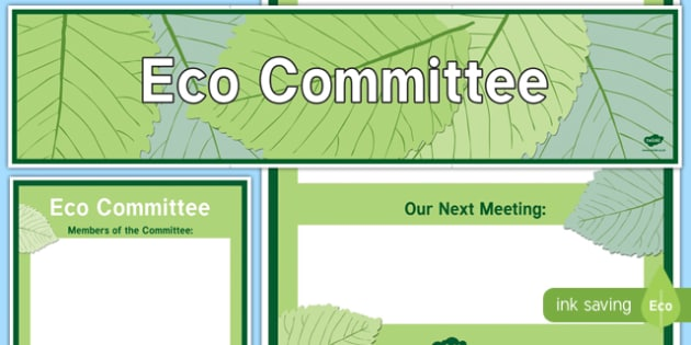 Eco Committee Display Banner and Poster - eco committee, display banner, display, banner