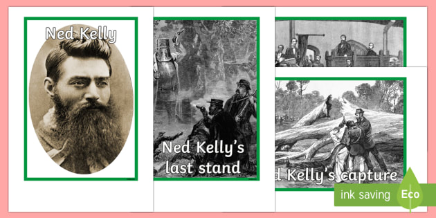 Ned Kelly Photo Pack - Bushrangers, Ned Kelly, Australian History, outlaw,Australia, photos, display, bushranger