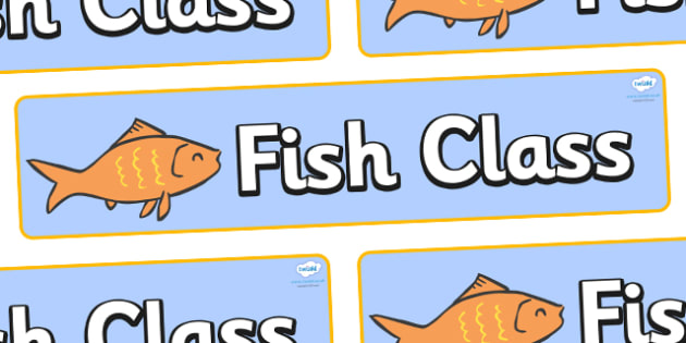 Goldfish Themed Classroom Display Banner - Themed banner, banner, display banner, Classroom labels, Area labels, Poster, Display, Areas