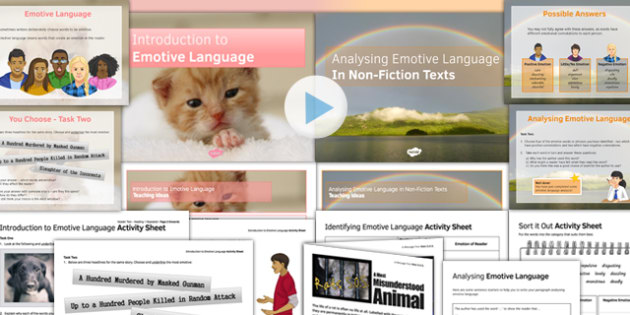 Emotive Language Lesson Pack Two. KS4 & GCSE Emotive Language Resources