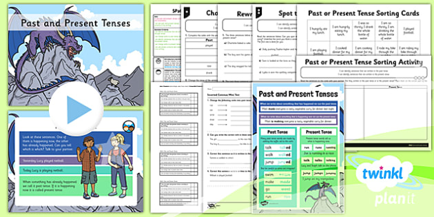 PlanIt Y2 SPaG Lesson Pack: Past and Present Tenses - GPS, spelling, grammar, verbs, tenses, past, present