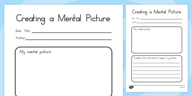 Comprehension: Creating a Mental Picture - australia, comprehension