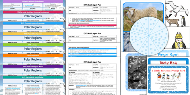 EYFS Polar Regions Bumper Planning and Resource Pack - EYFS, early years planning, cold lands, frozen, arctic, antarctic