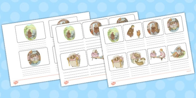 The Tale of Mrs Tiggy Winkle Storyboard Template - mrs tiggy winkle