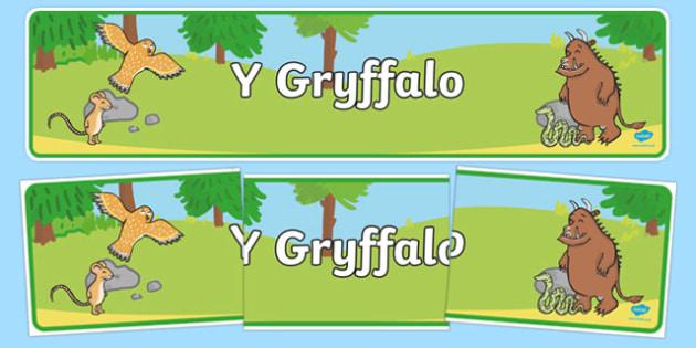 Baner Y Gryffalo Baner Arddangosfa-Welsh