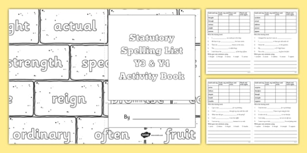 Statutory spelling list y3 and y4 activity book spellings statutory spelling list y3 and y4 activity book spellings ks2 primary lower ccuart Image collections