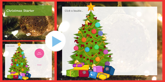 Christmas Starters.Christmas Starters Differentiated Powerpoint Pack Algebra