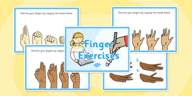 PlanIt - EAL Intervention - Basic Skills: Finger Exercises Activity