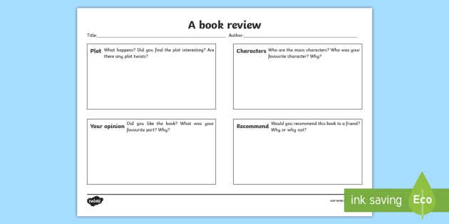 how to write a review book