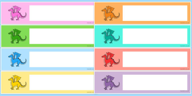 Editable Drawer - Peg - Name Labels (Dragons) - Classroom Label, template, sticker, templates, Resource Labels, Name Labels, Editable Labels, Drawer Labels, Coat Peg Labels, Peg Label, KS1 Labels, Foundation Labels, Foundation Stage Labels, Teaching