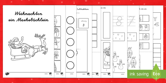 Weinachten Mathe Mini Buch De Eyfs Christmas Weihnachten