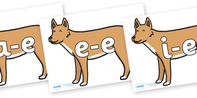 Modifying E Letters on Dingo - Modifying E, letters, modify, Phase 5, Phase five, alternative spellings for phonemes, DfES letters and Sounds