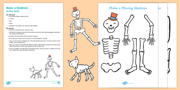 Make a Skeleton Busy Bag Resource Pack for Parents